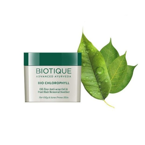 Гель для лица против угрей Биотик Био Хлорофилл (Biotique Bio Chlorophyll Oil Free Anti-Acne Gel), 50г