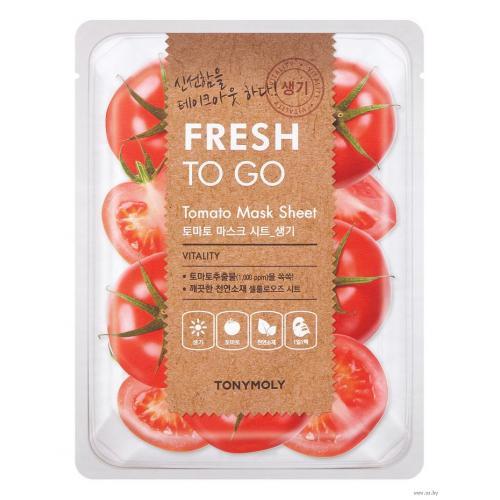 Tony Moly Fresh To Go Tomato Mask Sheet Тканевая маска с экстрактом томата, 22 гр