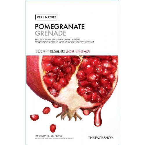 The Face Shop Real Nature Mask Sheet Pomegranate тканевая маска для лица с экстратом граната, 20г