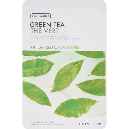 The Face Shop Real Nature Mask Sheet Tea Tree тканевая маска для лица с экстрактом зеленого чая, 20г