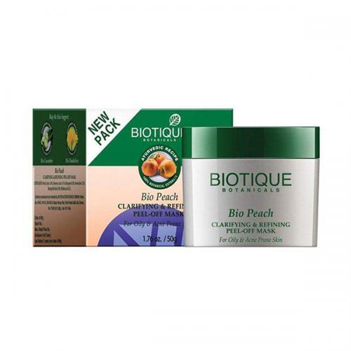 Маска-пленка для лица Биотик Био Персик (Biotique Bio Peach Clarifying&Refining Peel-Off Mask), 50г