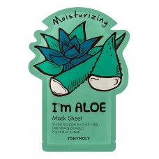 Тканевая маска для лица Tony Moly I'm Real Aloe Mask Sheet Moisturizing