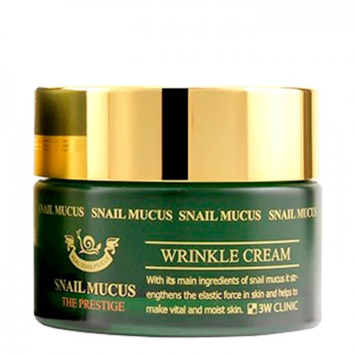 3W CLINIC Омолаживающий крем для лица с улиточным муцином Snail Mucus Wrinkle Cream