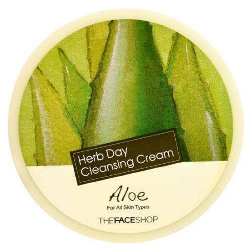 The Face Shop Herb Day Cleansing Cream Очищающая серия очищающий крем с экстрактом алое, 150 мл.