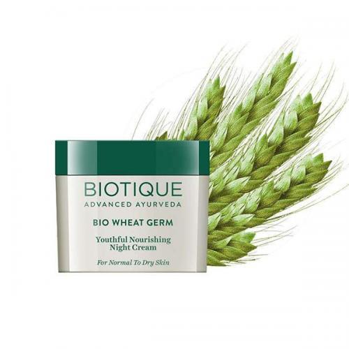 Ночной питательный крем Биотик Био Зародыши Пшеницы (Biotique Bio Wheat Germ Youthful Nourishing Night Cream), 50г