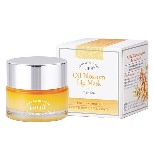 [PETITFEE] Маска для губ ВИТАМИН Е/ОБЛЕПИХА Oil Blossom Lip Mask (Sea Buckthorn oil), 15 гр