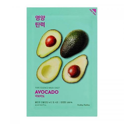 Смягчающая тканевая маска для лица Pure Essence, авокадо, 20 мл, Holika Holika