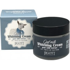 Осветляющий крем для лица с экстрактом козьего молока JIGOTT Goat Milk Whitening Cream