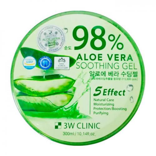 Универсальный гель алоэ для лица и тела 98%, 300 мл, 3W Clinic