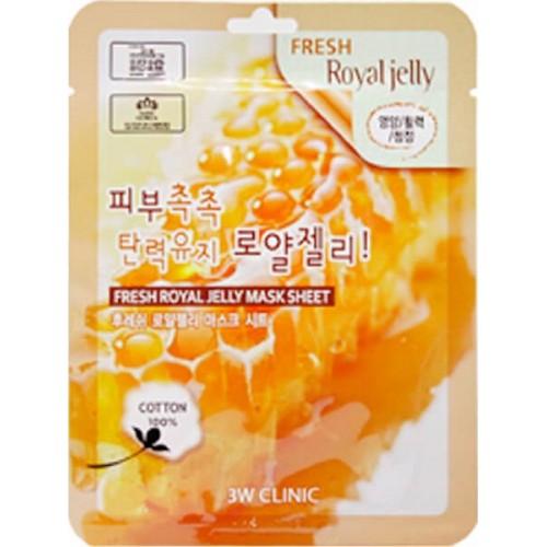 Освежающая тканевая маска для лица с пчелиным молочком, 1 уп., 23 мл, 3W Clinic