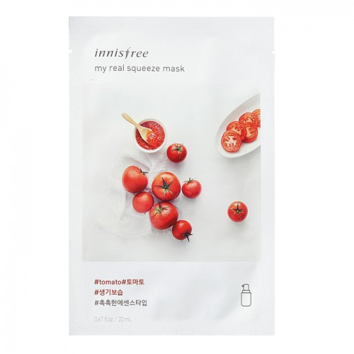 Innisfree Листовая маска для лица с экстрактом томата My Real Squeeze Mask Tomato