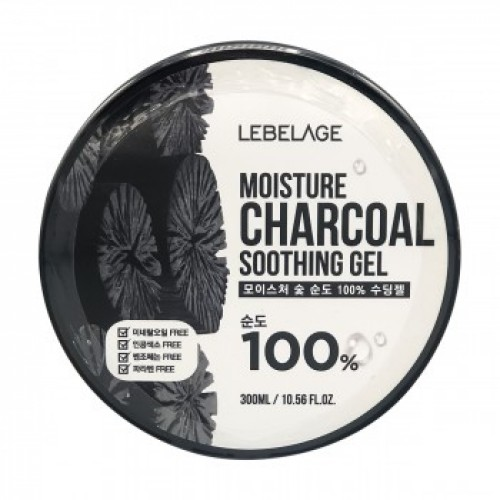 LEBELAGE Увлажняющий гель с древесным углем Moisture Charcoal Purity 100% Soothing Gel