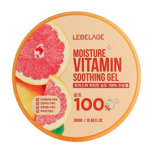 LEBELAGE Увлажняющий успокаивающий гель с витаминами Moisture Vitamin Purity 100% Soothing Gel