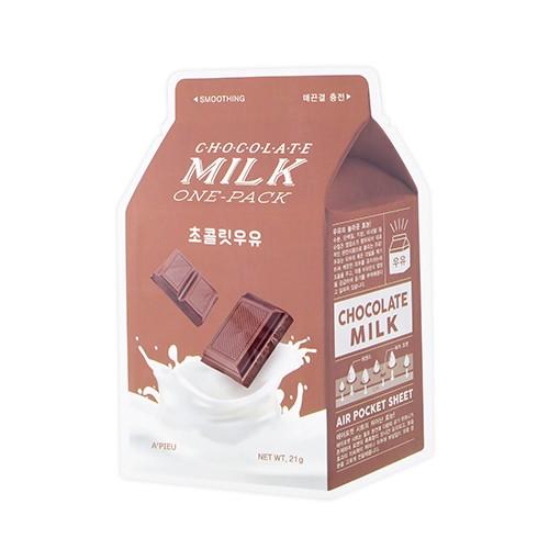 A'PIEU Смягчающая маска с экстрактом какао и сливы Chocolate Milk One-Pack