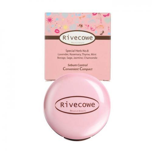 Пудра для лица Rivecowe Sebum Control Convenient Compact