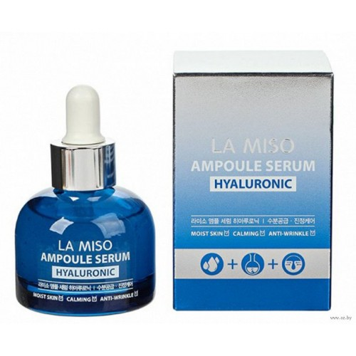 Сыворотка для лица ампульная с гиалуроновой кислотой, увлажняющая, 35 мл, LA MISO