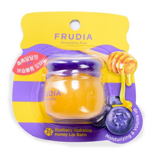 Увлажняющий бальзам для губ с черникой Frudia Blueberry Hydrating Honey Lip Balm Фрудиа 10 г