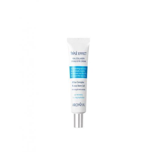Тройной эффект Крем для кожи вокруг глаз с морским коллагеном Aronyx Triple effect wrinkle eye cream