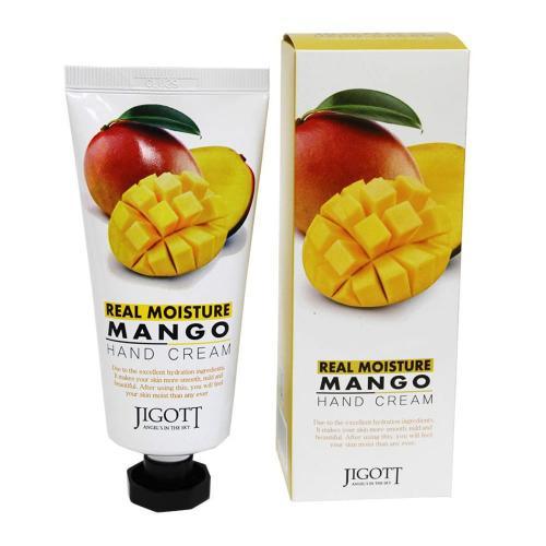 Увлажняющий крем для рук с маслом манго JIGOTT  Real Moisture Mango Hand Cream 100 мл