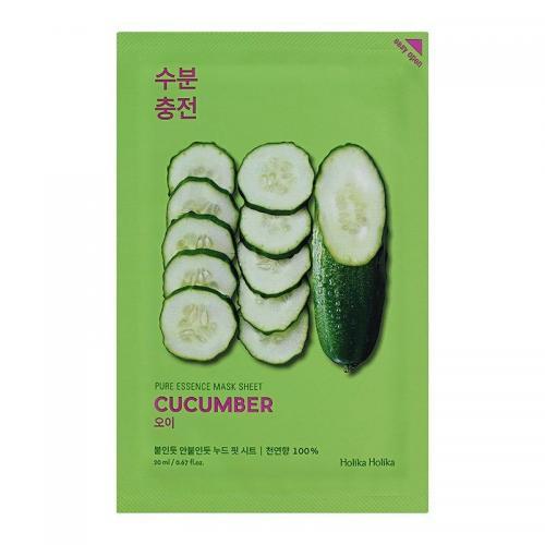 Pure Essence Mask Sheet Cucumber тканевая маска для лица, 20 мл, Holika Holika