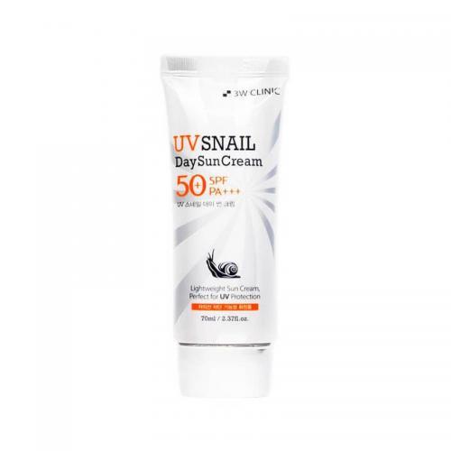 [3W CLINIC] Солнцезащитный крем УЛИТОЧНЫЙ МУЦИН UV Snail Day Sun Cream SPF 50+ PA+++, 70 мл