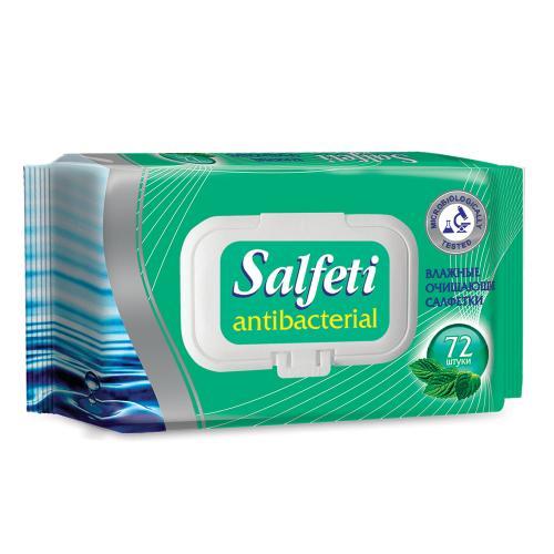 Salfeti Салфетки влажные антибактериальные 72шт, Salfeti