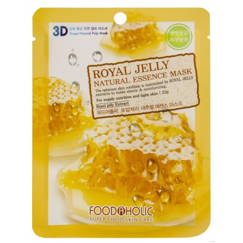 Маска для лица FoodaHolic Royal Jelly Natural Essence Mask, 23мл, FoodaHolic