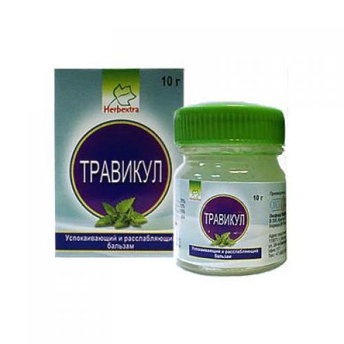 Аюрведический бальзам Травикул, Herbextra 10 г