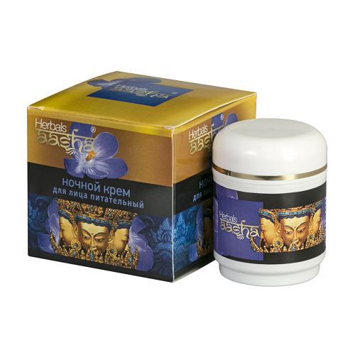 Крем для лица ночной питательный, Aasha Herbals, 50 г