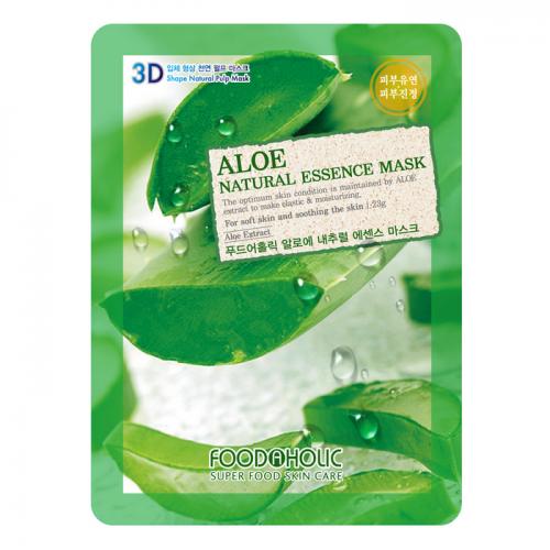 Маска для лица FoodaHolic Aloe Natural Essence Mask, 23мл, FoodaHolic