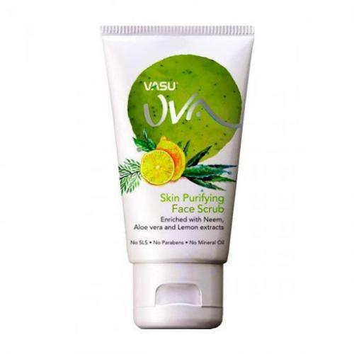 Скраб для лица Очищающий с Нимом, Лимоном и Алоэ Вера Vasu Uva (Skin Purifying Face Scrub), 150 мл