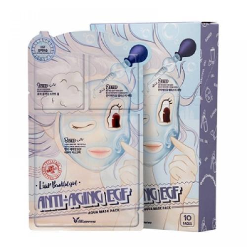 [Elizavecca] Тканевая маска для лица ТРЕХЭТАПНАЯ/ОМОЛАЖИВАЮЩАЯ Anti-Aging EGF Aqua Mask Pack, 1 шт