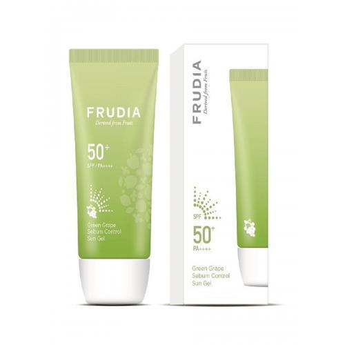 FRUDIA Солнцезащитный гель с зеленым виноградом Себум контроль SPF50+/PA ++++ (50г) / Frudia Green Grape Sebum Control Cooling Sun Gel SPF50+/PA++++