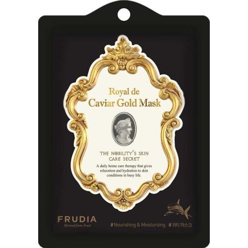 Омолаживающая маска с экстрактом икры и золотом Frudia Royal de Caviar Gold Mask 20 мл