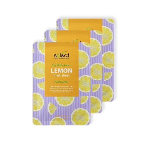 SOLEAF So Delicious Маска для лица с лимоном