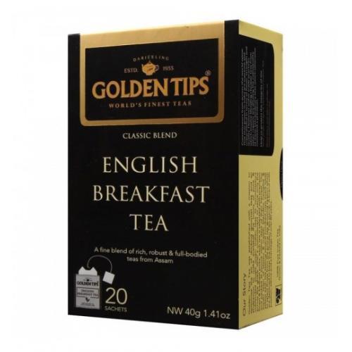 """Golden Tips English Breakfast Tea Bags / Чай """"Английский завтрак"""" (20 пакетиков)"""