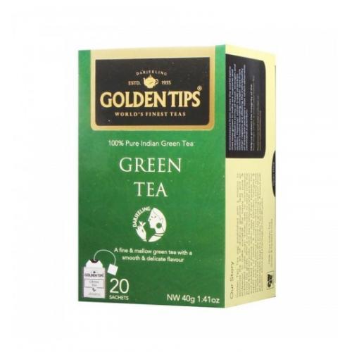 """Golden Tips Pure Green Tea Bags / Чистый """"Зеленый Чай"""" (20 пакетиков)"""