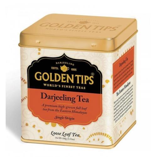 "Golden Tips Darjeeling Black Tea Tin Can /Черный чай ""Дарджелинг"" в банке 100г."