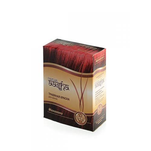 Травяная краска для волос на основе индийской хны Махагони 60гр Aasha Herbals