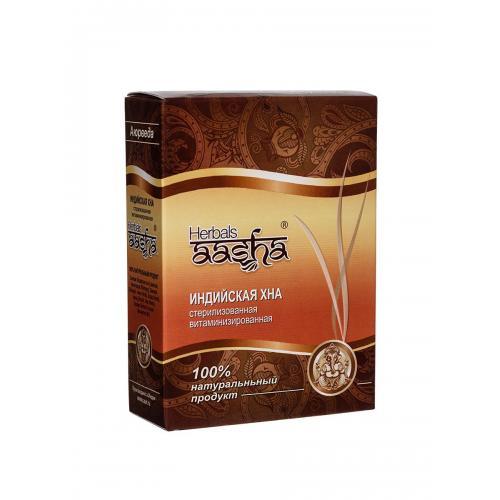 Хна - стерилизованная витаминизированная AASHA HERBALS 80 г