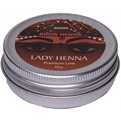 Коричневая - краска для бровей на основе хны LADY HENNA Premium Line