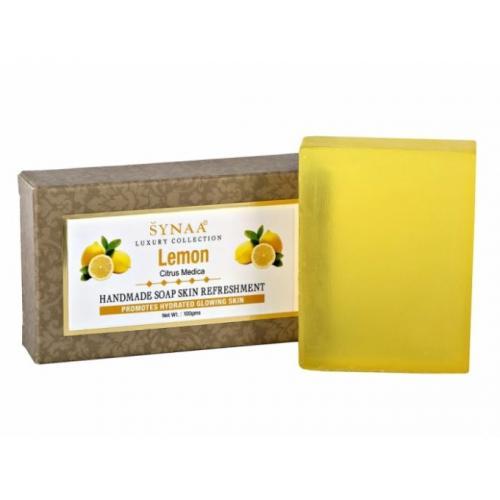 Мыло с маслом лимона ручной работы SYNAA