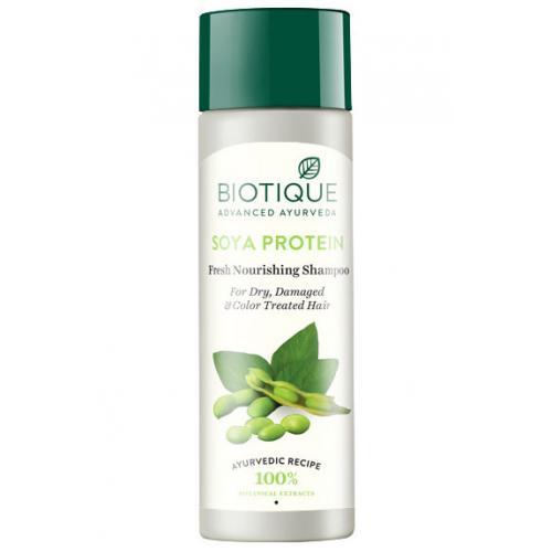 Шампунь очищающий с протеином сои для окрашенных волос и волос с химической завивкой Bio Soay 120 мл
