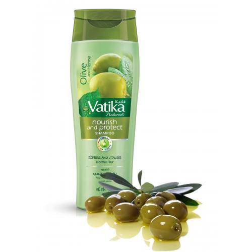 Шампунь для нормальных волос Vatika Ватика питание и защита олива+хна+алоэ вера+миндаль 200 мл