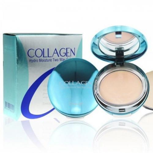 [ENOUGH] Компактная пудра для лица КОЛЛАГЕН Collagen Hydro Moisture Two Way Cake SPF25 PA++ (21), 13 гр * 2 шт