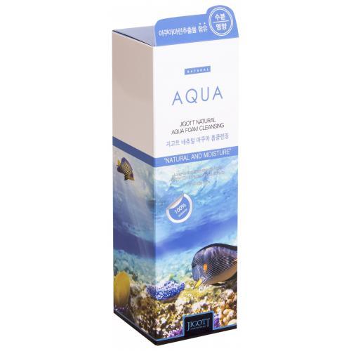 Пенка для умывания КОЛЛАГЕН JIGOTT Natural AQUA Foam Cleansing, 180 мл