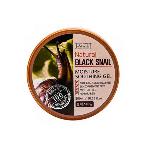 Универсальный гель для кожи УЛИТКА JIGOTT Natural BLACK SNAIL Moisture Soothing Gel, 300 мл