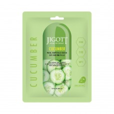 Тканевая маска для лица ОГУРЕЦ JIGOTT CUCUMBER Real Ampoule Mask, 1 шт
