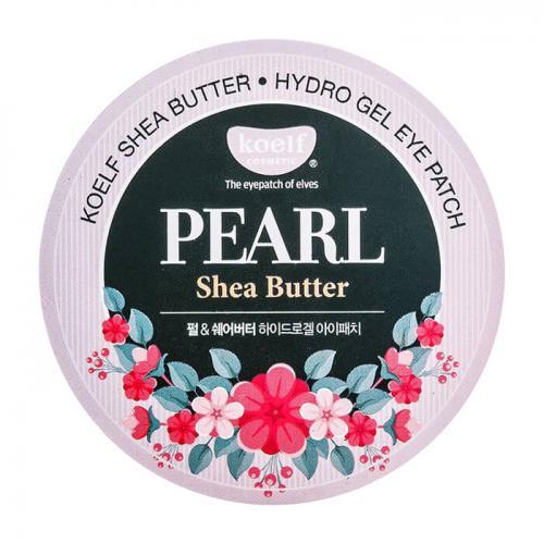 koelf PEARL Гидрогелевые патчи для кожи вокруг глаз, с жемчужной пудрой и маслом Ши