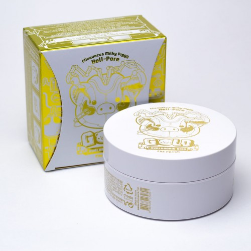 Увлажняющие гидрогелевые патчи ELIZAVECCA Milky Piggy Hell Pore Gold Hyaluronic Acid Eye Patch